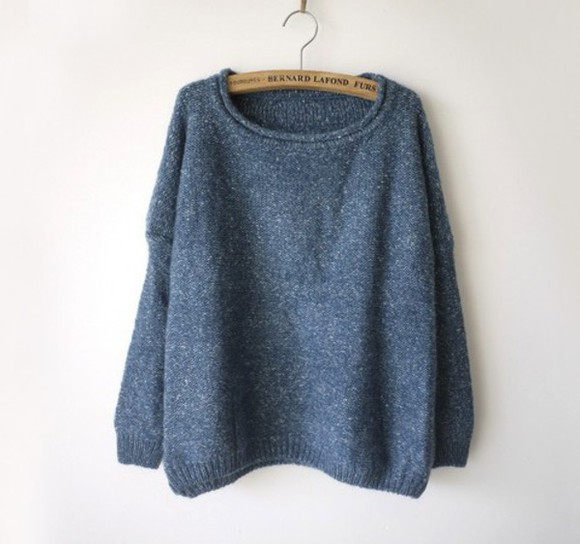 blue sweater soft