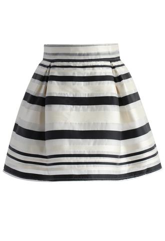 skirt chicwish striped skirt organza skirt mini skirt spring skirt summer skirt chicwish.com