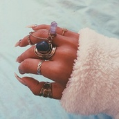 jewels,crystal,ring,rock,jewelry,indie,hipster,good,old,grunge,hippie,gypsy,pretty,tiger,vintage,indian,flip-flops,magenta dress,beach,thump rings