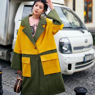 coat trench coat yellow trench coat