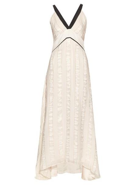 ZEUS + DIONE Delphi silk-blend jacquard dress in ivory