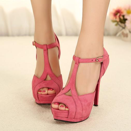 sexy plateau sandalen sandalette pumps high heels peeptoes. Black Bedroom Furniture Sets. Home Design Ideas