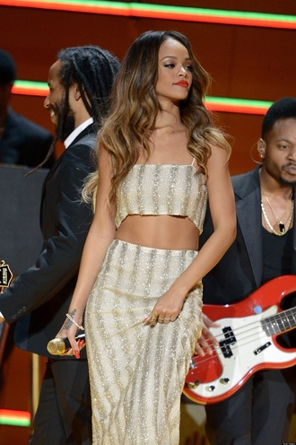 dress rihanna beige sequins glitter beige dress sequin dress maxi dress maxi skirt crop tops