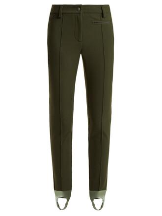 high dark green pants