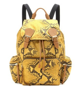 backpack leather backpack leather yellow bag