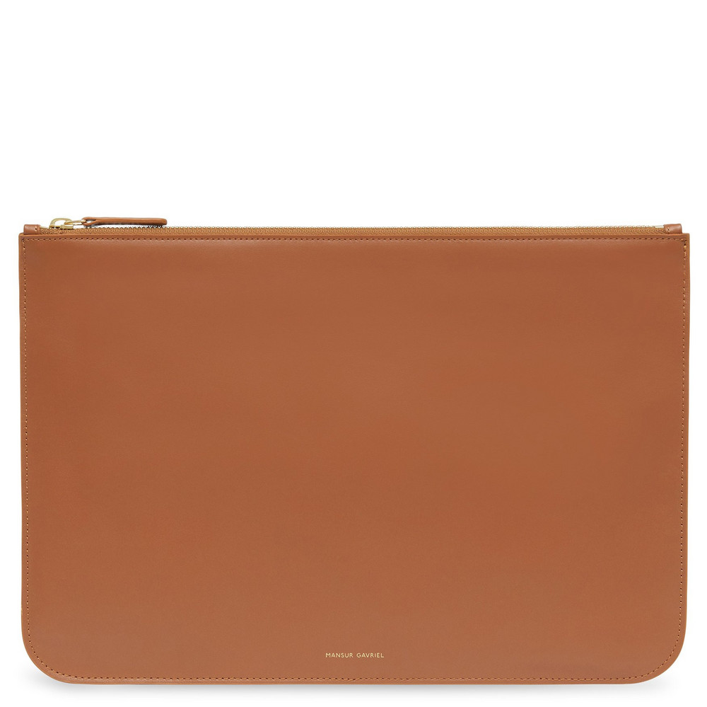 Mansur Gavriel Calf Men's Oversized Attaché - Saddle