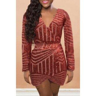 dress brown brown dress sequins sequin dress gold sequins dress