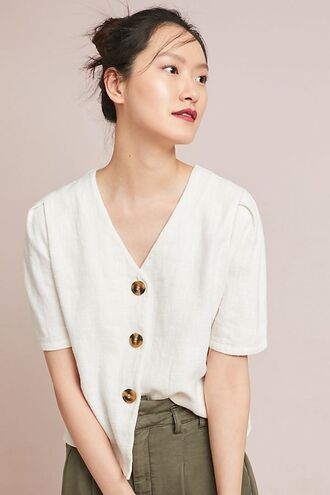 blouse vintage buttons timeless anthropologie