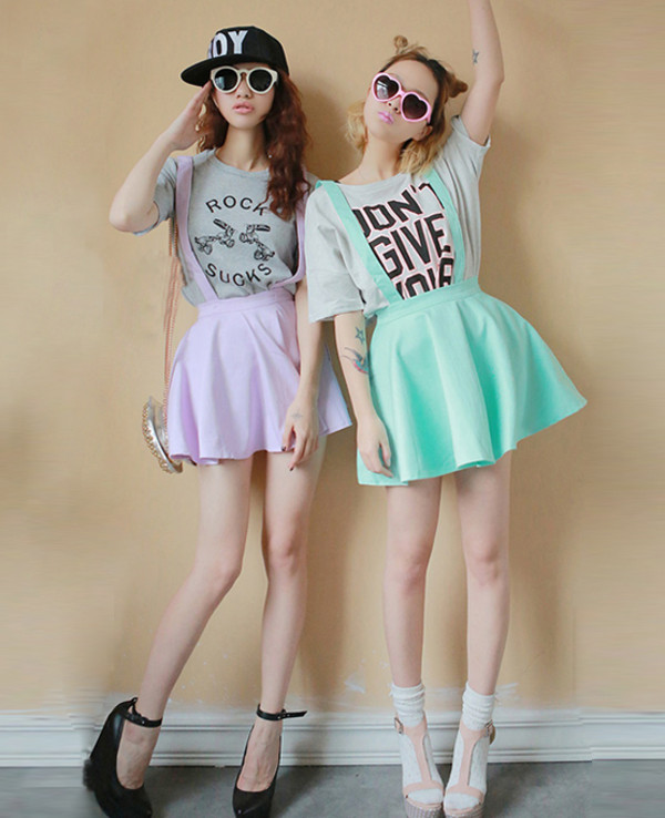 skirt skirt with suspenders