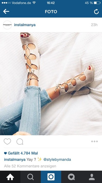 shoes instagram instamanya trendy trends 2015 addicted heels nude high heels lace up heels fashion beige high heels