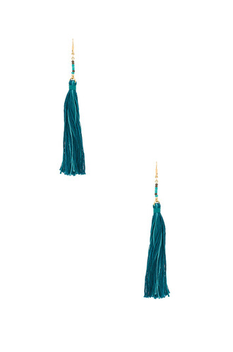 tassel teal jewels