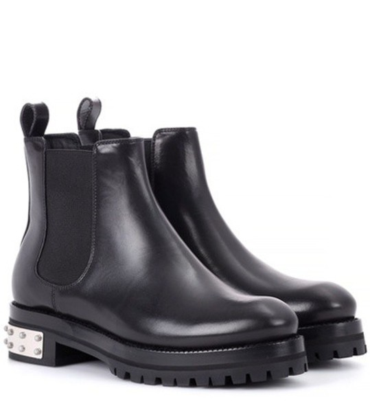 Alexander Mcqueen chelsea boots leather black shoes