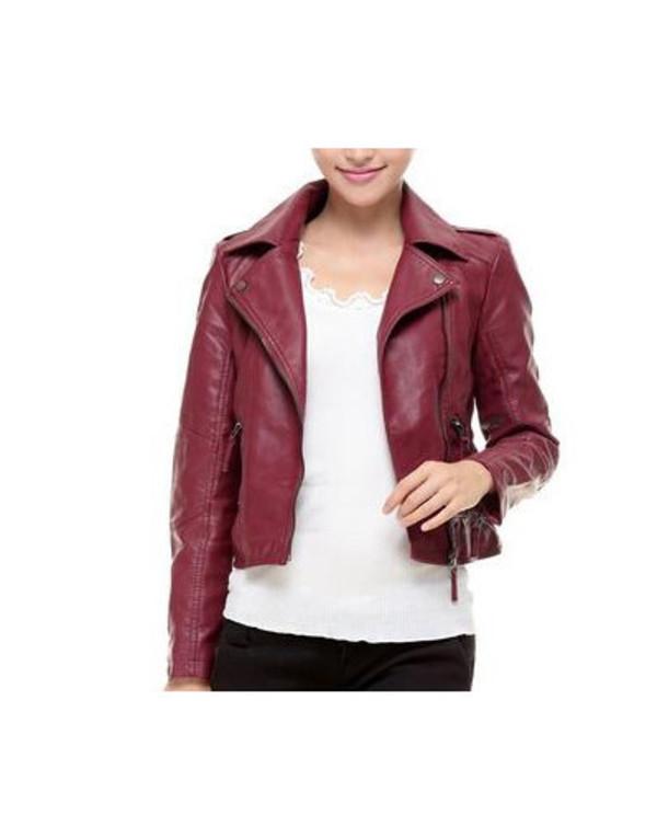 jacket leather jacket red jacket vine jacket vine vintage luxury elegant wow chic blogger trendy