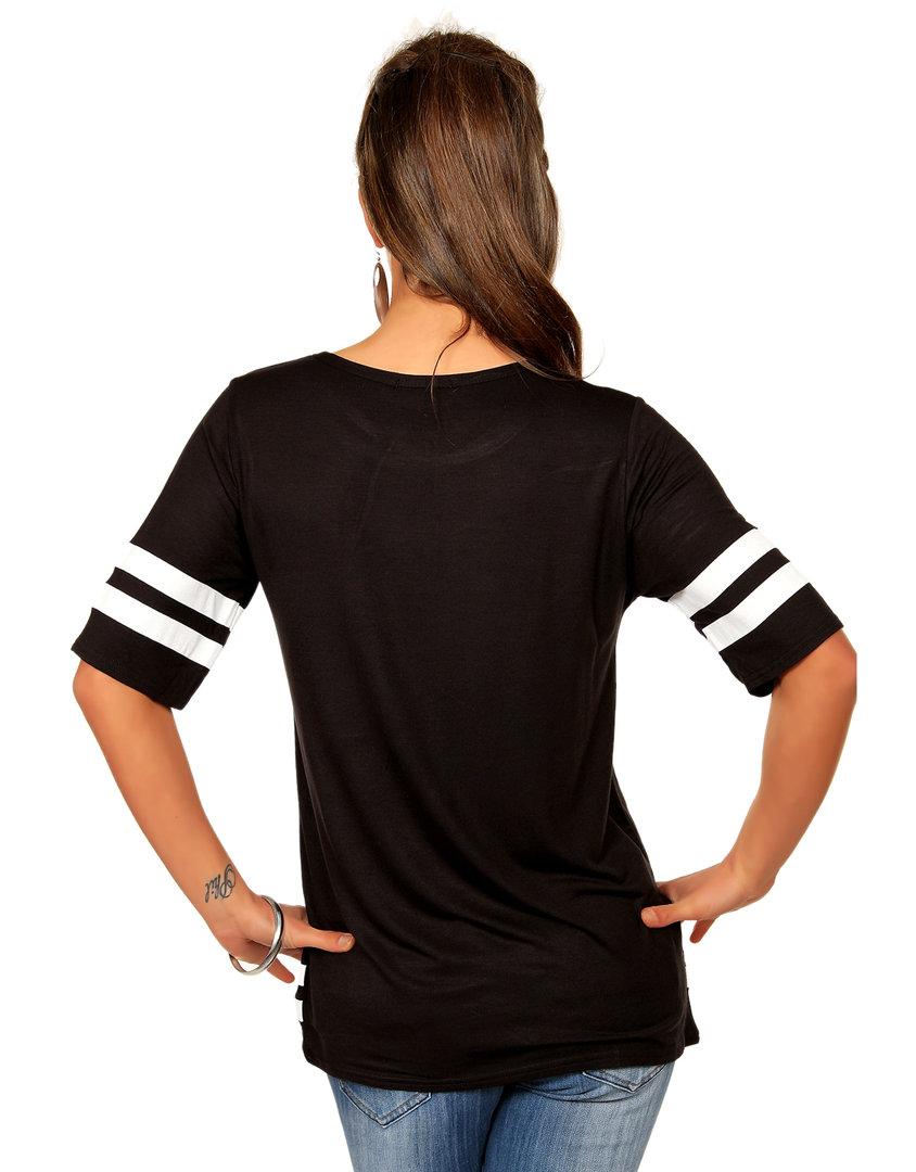 trendy shirt trikot football style schwarz wei. Black Bedroom Furniture Sets. Home Design Ideas