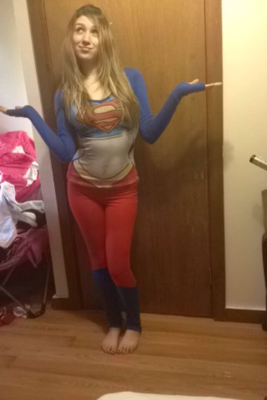 pjs pants winter shirt pajama superhero cute spencer's superman superwoman long sleeve long pants tights blue red long