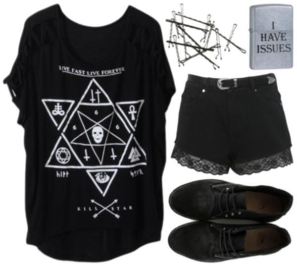 shirt goth hipster goth black white black and white goth punk satan satan luciferian hipster