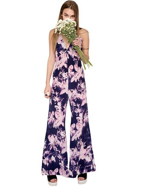 jumpsuit pixie market pixiemarket cute trendy trendy summer summer dress floral lavender pink silk spring spring outfits