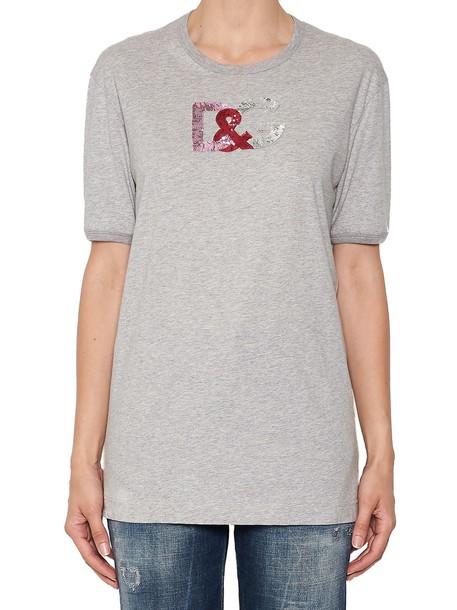 Dolce & Gabbana t-shirt shirt t-shirt grey top
