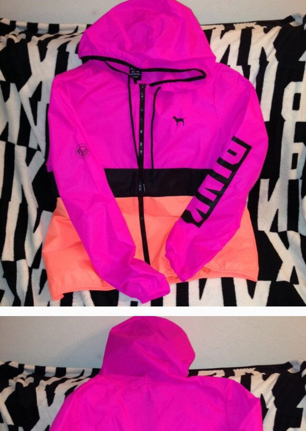 Jacket: victoria's secret, pink by victorias secret, pink, anorak ...