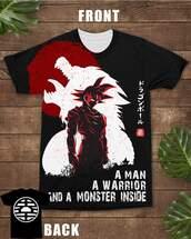 t-shirt,warrior,dragon ball z,goku