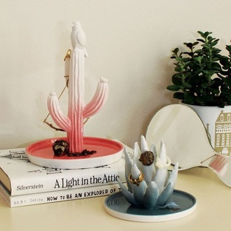 home accessory jewlery stand cactus organizer desk hipster jewels plants ombre beauty organizer