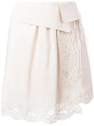 skirt lace nude