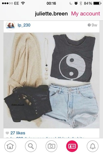 black white black and white indie boho yin yang cardigan cozy sweter shoes fashion style trendy denim shorts denim black boots boots comfy warm summer top winter cardigan wear neat sexy sweater