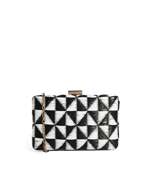 Liquorish | Liquorish Basket Weave Clutch Bag at ASOS