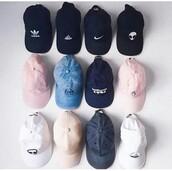 hat,cap,printed snapback,baseball cap,black,white,grey,alien,denim,nike,adidas,tumblr,pink,pastel