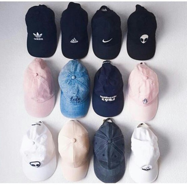 hat cap printed snapback baseball cap black white grey alien denim nike adidas tumblr pink pastel
