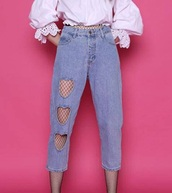 jeans,girly,denim,heart,cut-out