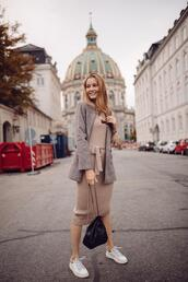 passions for fashion,blogger,jacket,shoes,sneakers,blazer,fall outfits,knitted dress