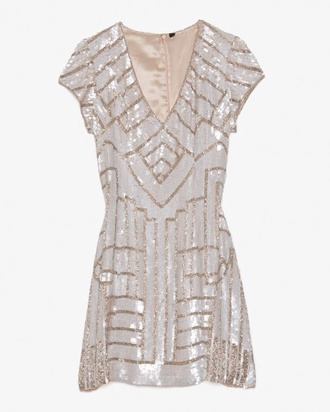 dress glitter glitter dress short dress short prom dress 1920s