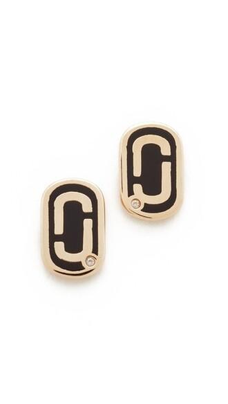 earrings stud earrings gold black jewels