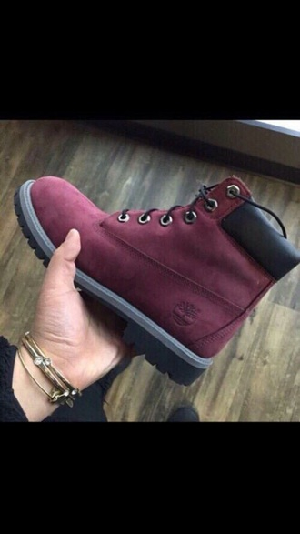 shoes burgundy timberlands love
