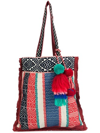 women bag tote bag red