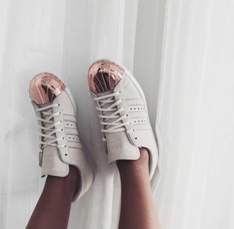 shoes adidas adidas shoes adidas superstars rose white sneakers