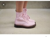 shoes,pink shoes,cute shoes,tumblr shoes,pink,cute,tumblr,boots,boot,pink boot,pink boots,socks,cute socks,white socks,ankle boots,white