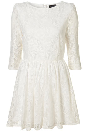 White Lace Flippy Dress - Dresses  - Clothing  - Topshop