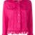 Love Moschino frayed denim jacket, Women's, Size: 42, Pink/Purple, Cotton/Spandex/Elastane