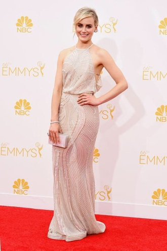 dress taylor schilling ball emmys gown prom celebrity long dress