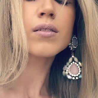 jewels accessories pink jewels frantic jewelry earrings big earrings elegant earrings