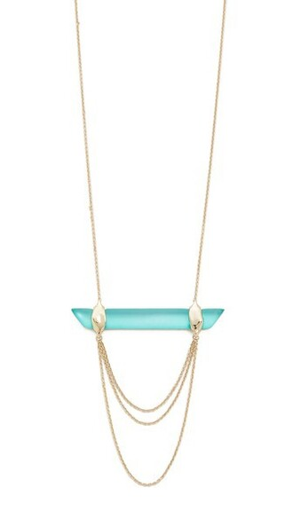 necklace gold green mint jewels