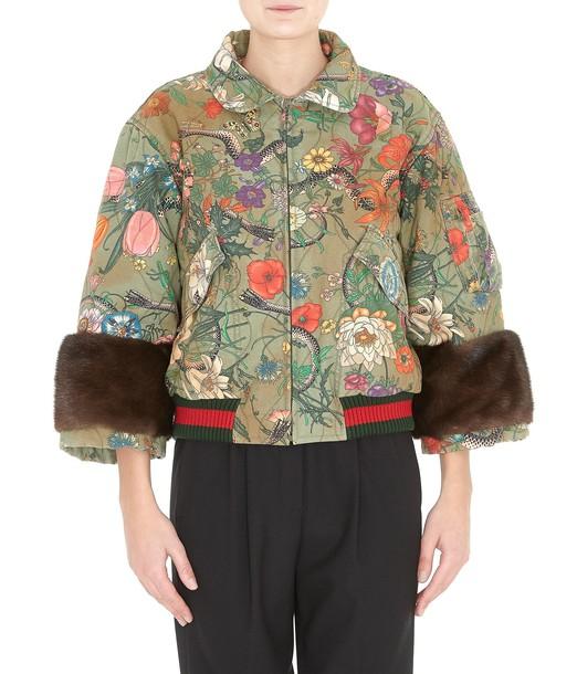 gucci jacket bomber jacket snake fur print snake print brown multicolor