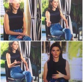 jeans,kendall jenner,kardashians,high waisted jeans,denim,outfit,keeping up with the kardashians,blouse