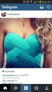 blue dress,criss cross