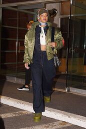 jacket,denim jacket,denim,crop tops,rihanna,bomber jacket,shoes,top