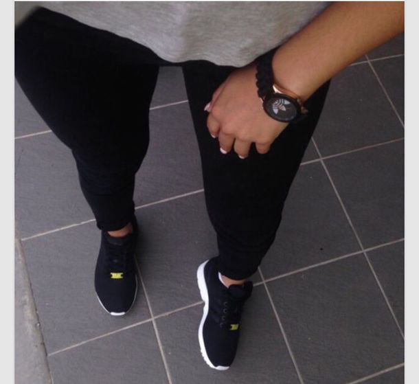 Brilliant Shoes Black All Black Everything Nike Nikes Air Max Sneakers Girl Where ? Pants Mens ...