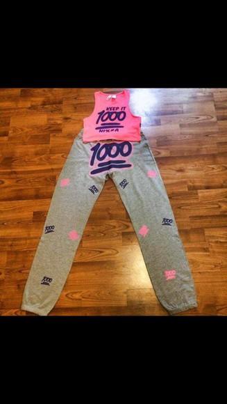 outfit emoji pants emoji shirt pink
