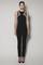 Oceana jumpsuit in black matt stretch with nude gazaar and black lace